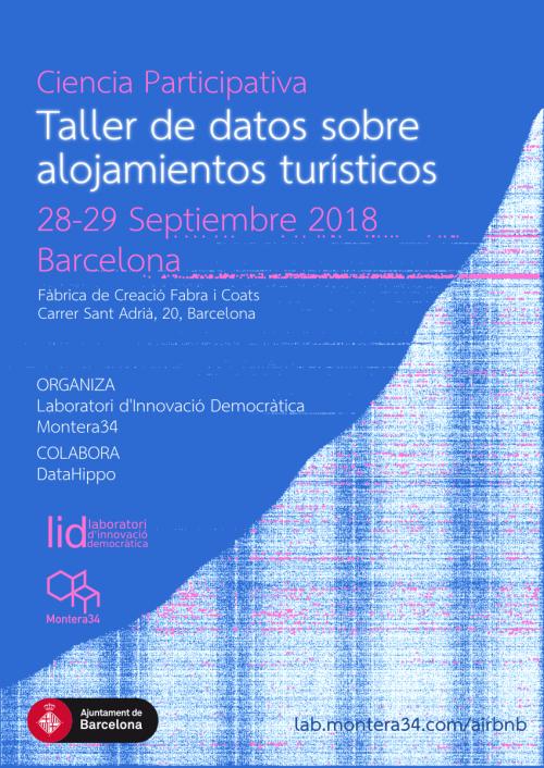 Ciencia Participativa: Taller de datos sobre alojamientos turísticos en Barcelona
